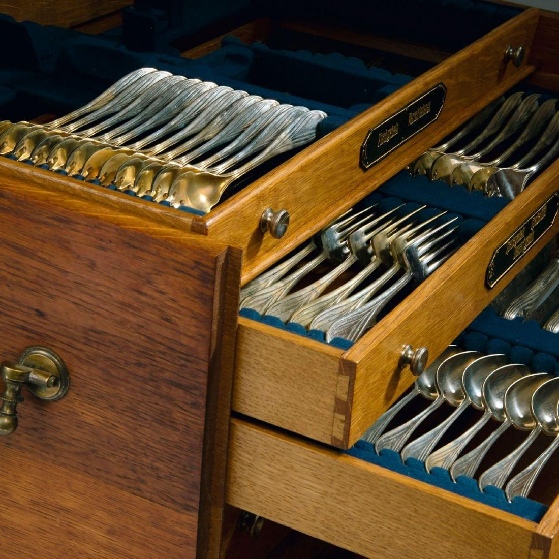 '3001' cutlery in original wooden box, 1901/02 - 3