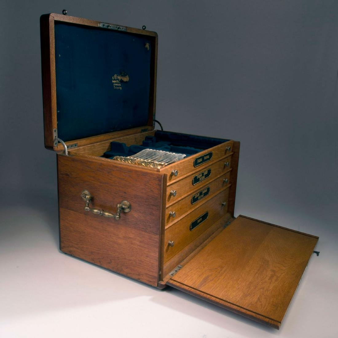 '3001' cutlery in original wooden box, 1901/02 - 5
