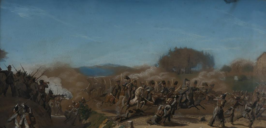 Untitled (Military Scene), 19th century