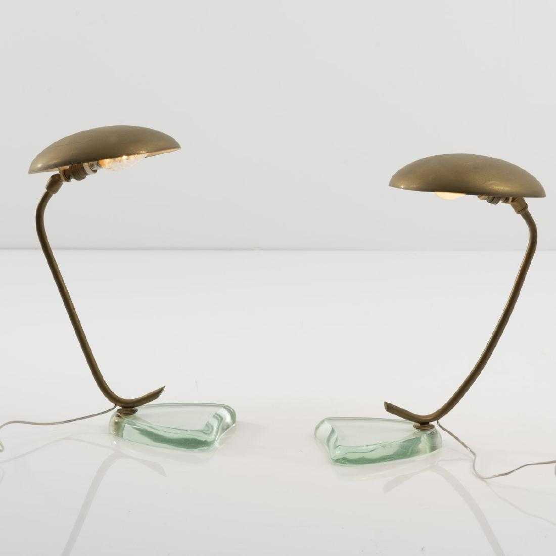 Fontana Arte, Milano (attributed), Two table lights,