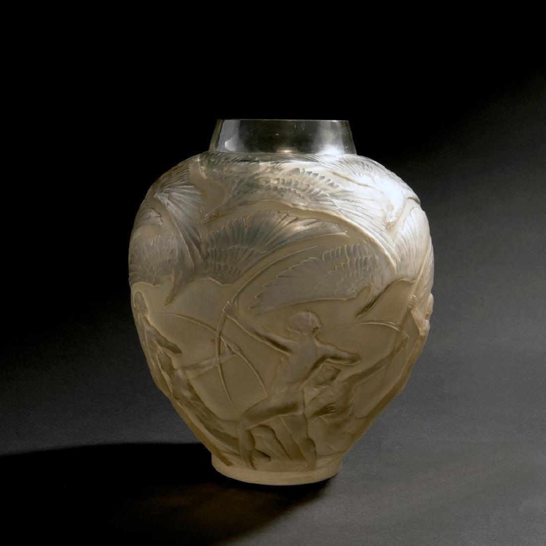Rene Lalique, 'Archers' vase, 1921