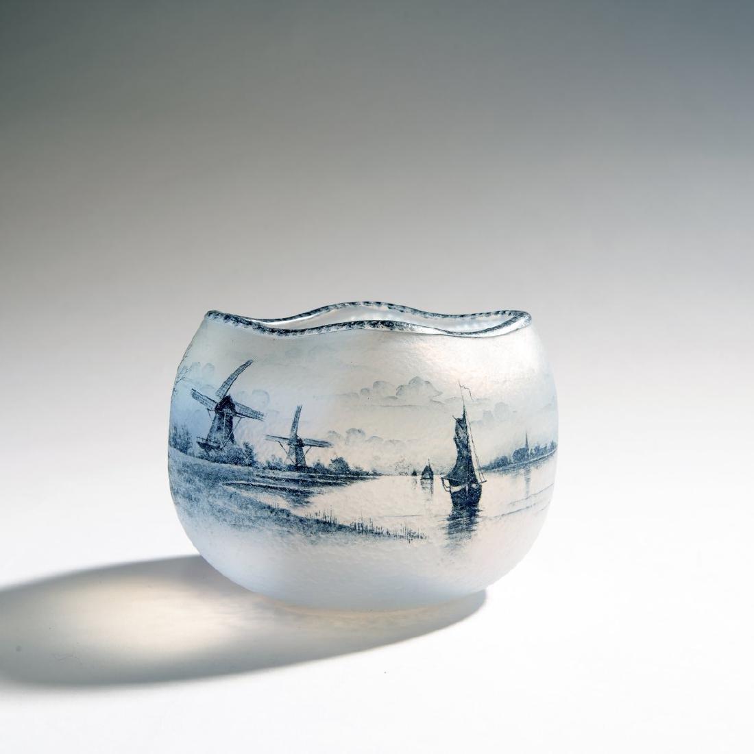 Daum Freres, Vase 'Delft', 1899