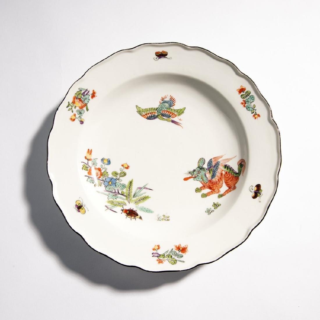 KPM Meissen, Soup plate 'Flying Dog', c. 1730