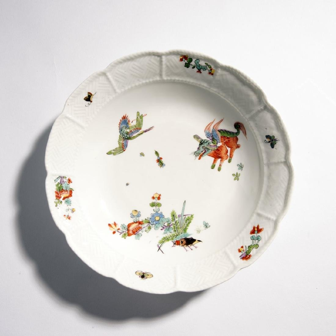 KPM Meissen, Bowl 'Flying Dog', c. 1730