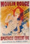 Jules Cheret, 'Moulin Rouge - Paris CanCan', 1890