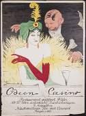 Walter Schnackenberg, Poster 'Odeon Casino', 1911