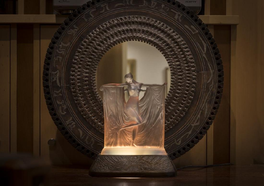 Rene Lalique, 'Suzanne' table lamp, 1925