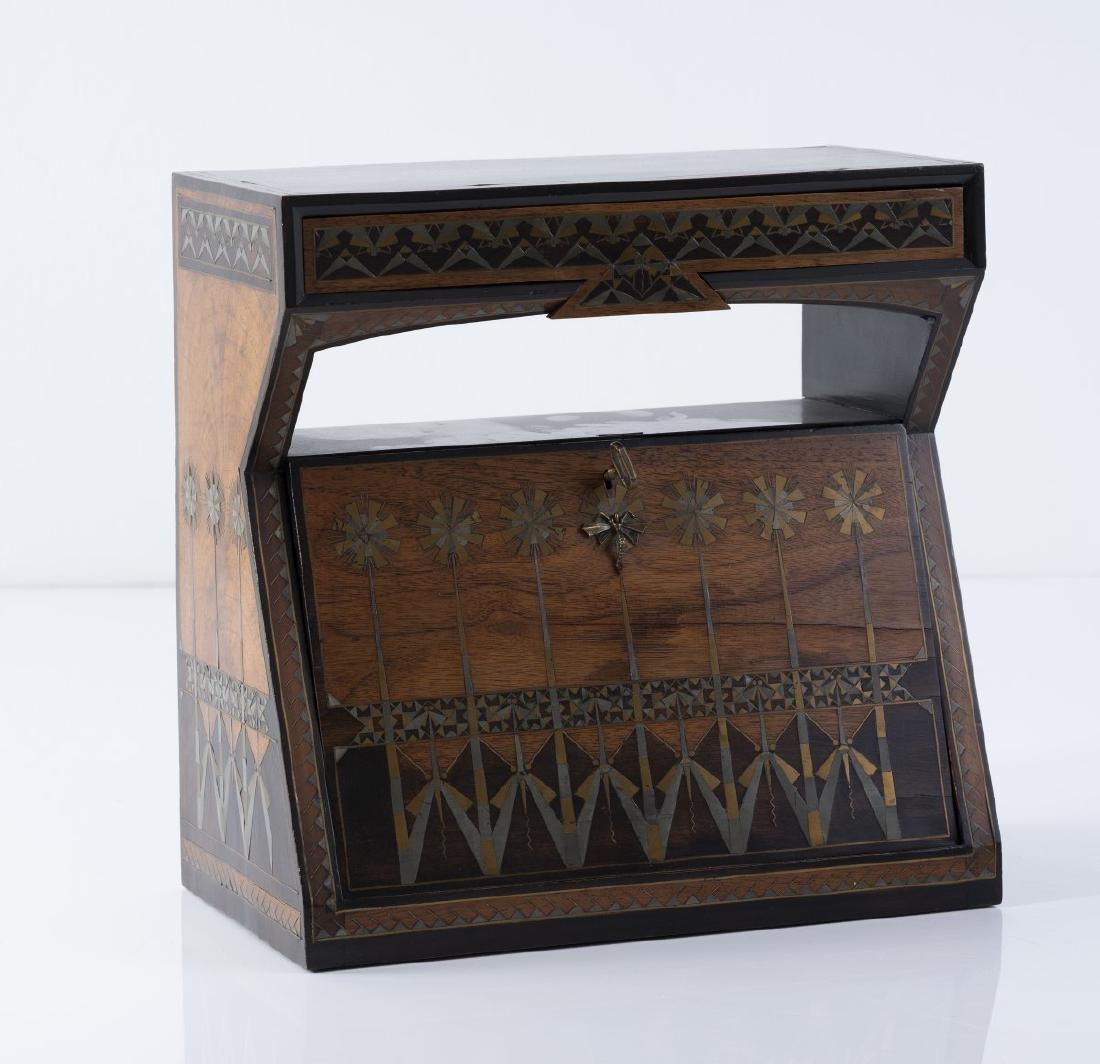 Carlo Bugatti, Desk chest, ca. 1900