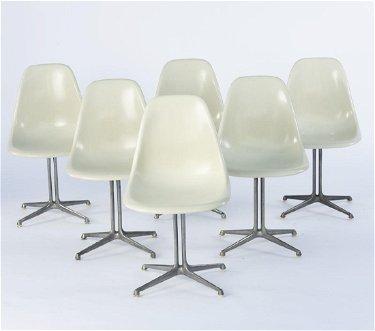 Charles Eames, 6 side chairs on \'La Fonda\' base