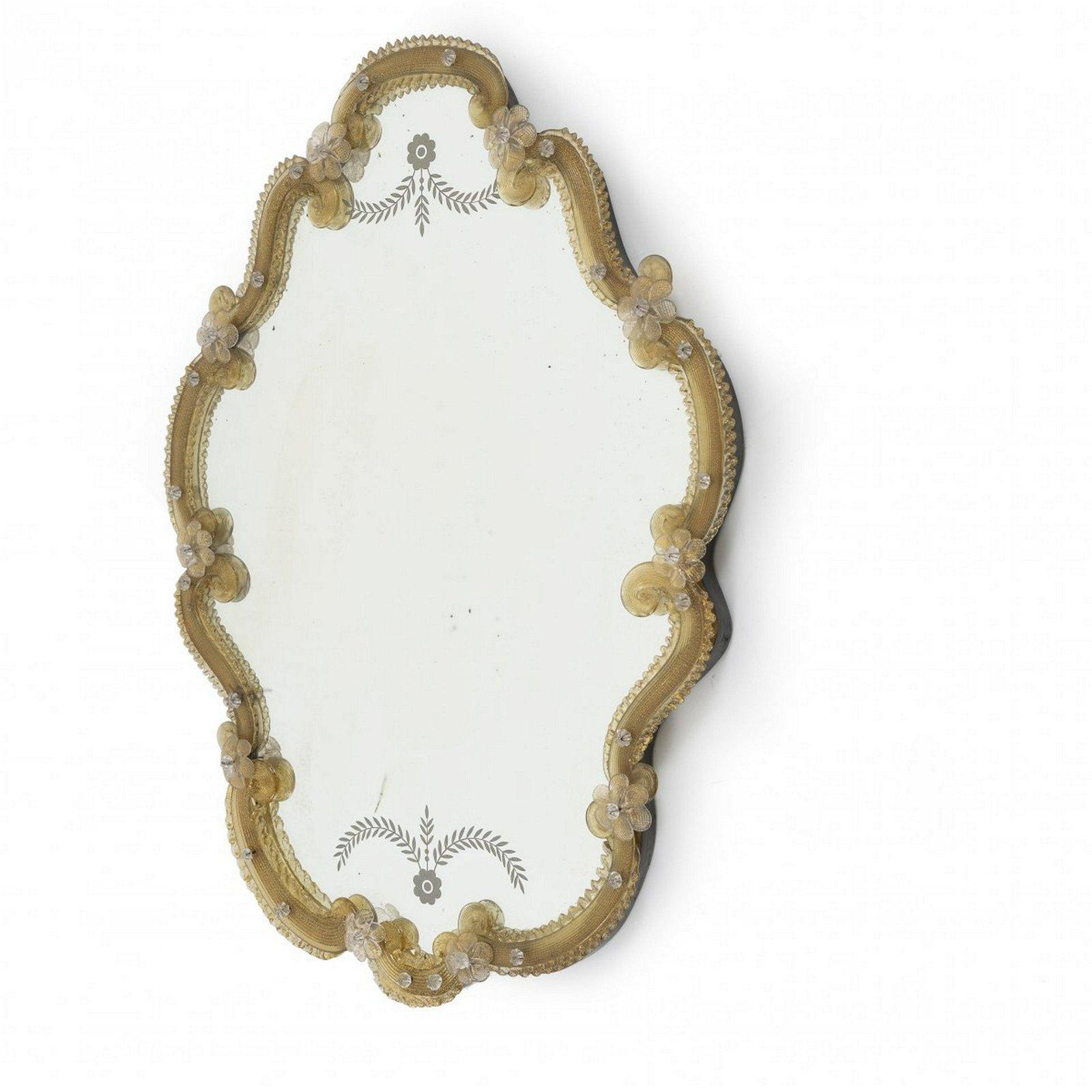 Barovier & Toso, Murano, Mirror, 1920s
