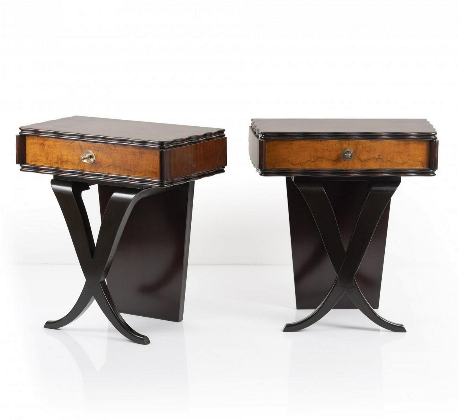 Italy, Two bedside tables, 1940/50s