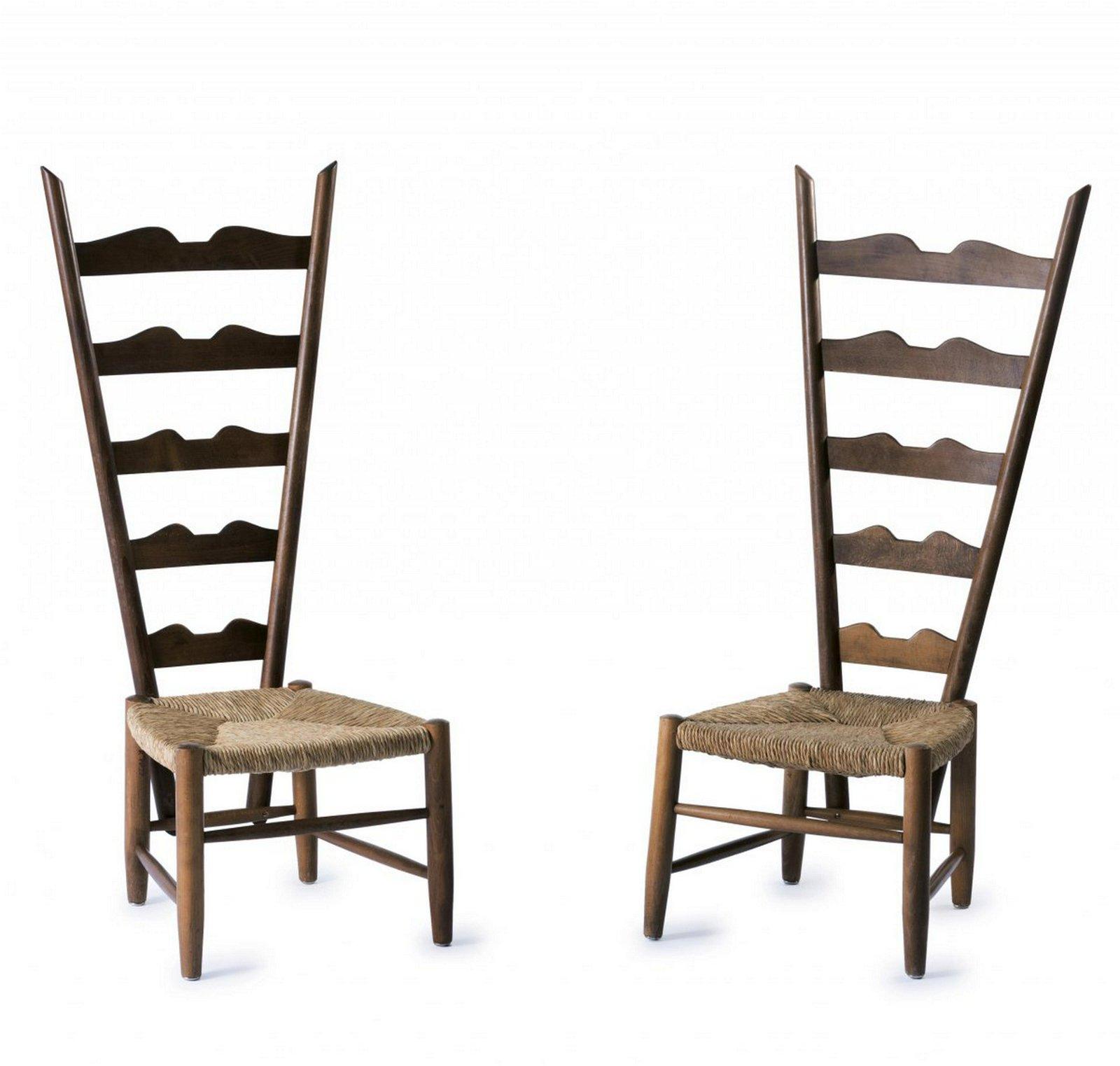 Gio Ponti, Two highback chairs, c. 1939