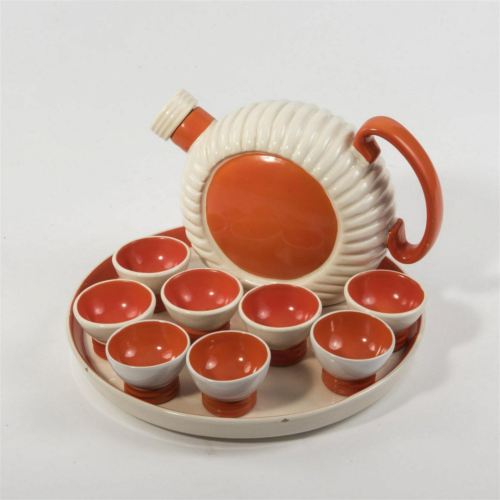 Ceramiche Pucci, Umbertide, Liquor set, 1940s