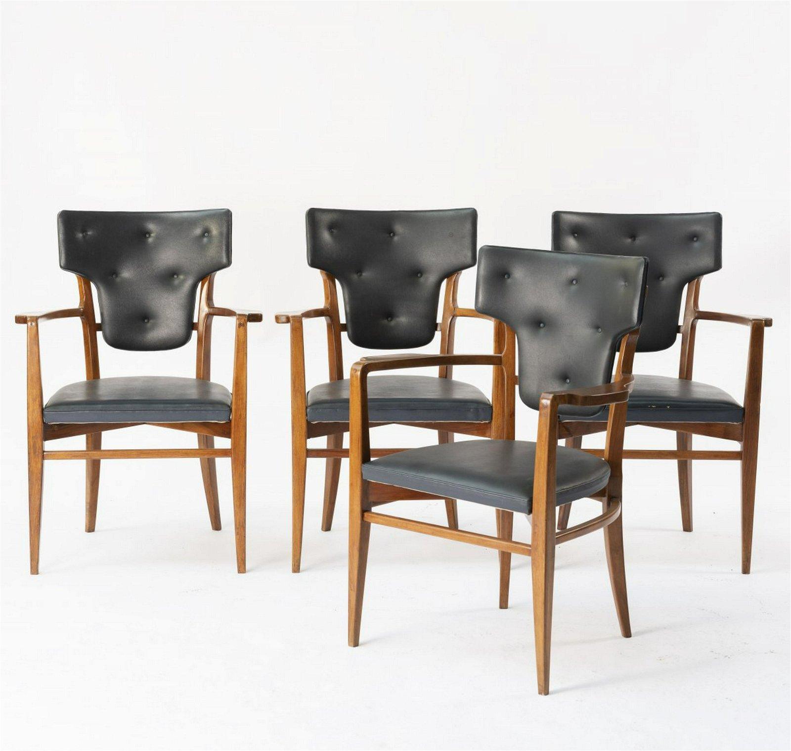 Italien, Four armchairs, c. 1955