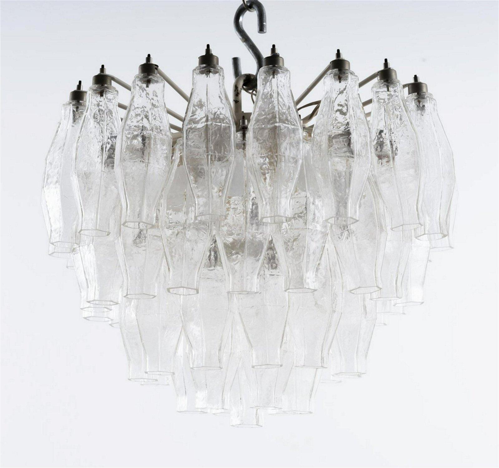 Paolo Venini, 'Poliedrica' ceiling light, c. 1958
