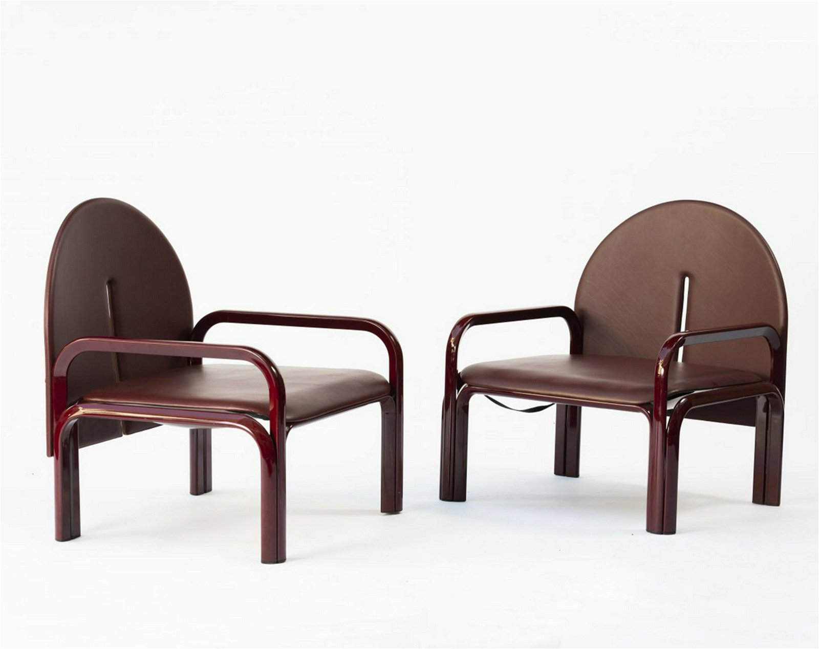 Gae Aulenti, Two '54 L' armchairs, 1976