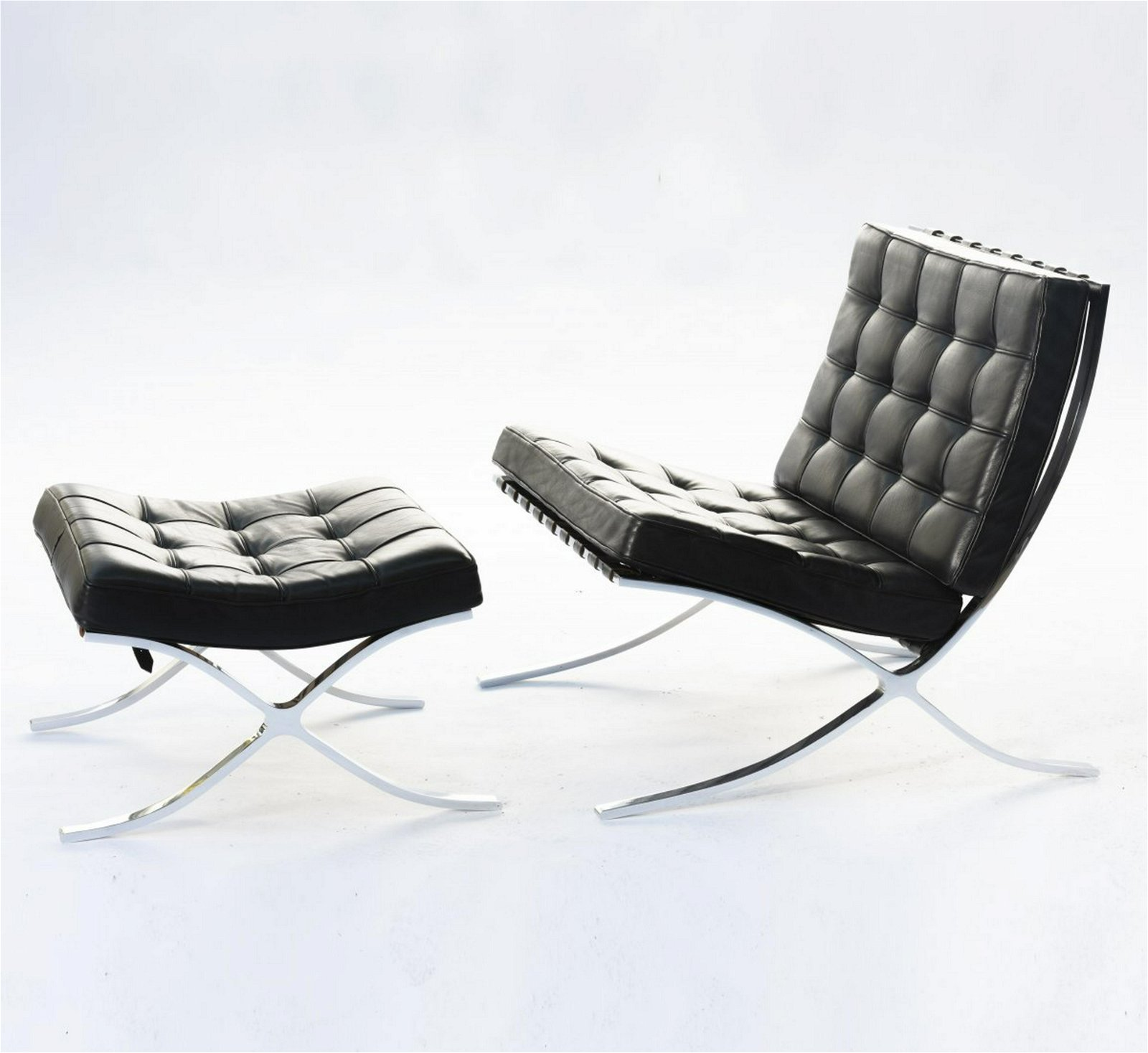 Mies van der Rohe, 'Barcelona' chair and stool