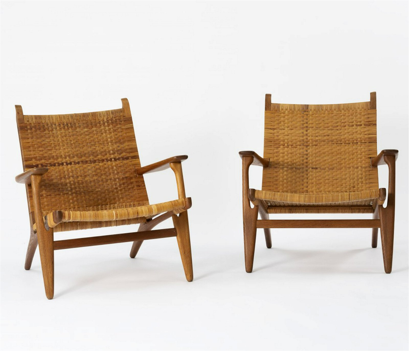 Hans J. Wegner, Two 'CH 27' armchairs, 1949