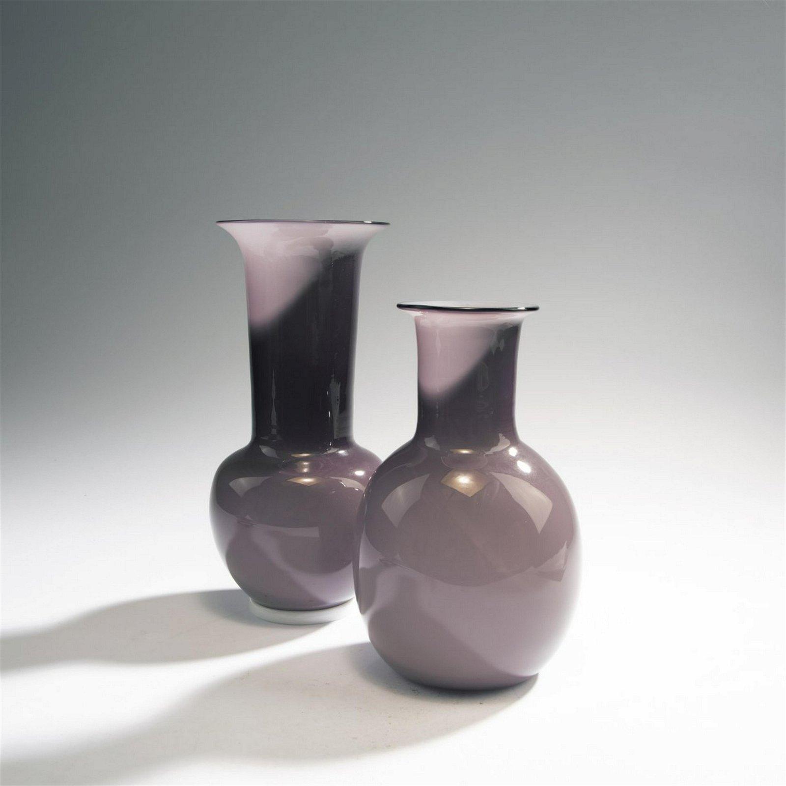 Tomaso Buzzi, Two 'Incamiciato' vases, 1932-33