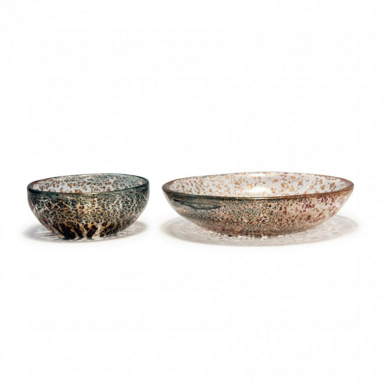 Ercole Barovier, Two 'Porpora' bowls, 1959