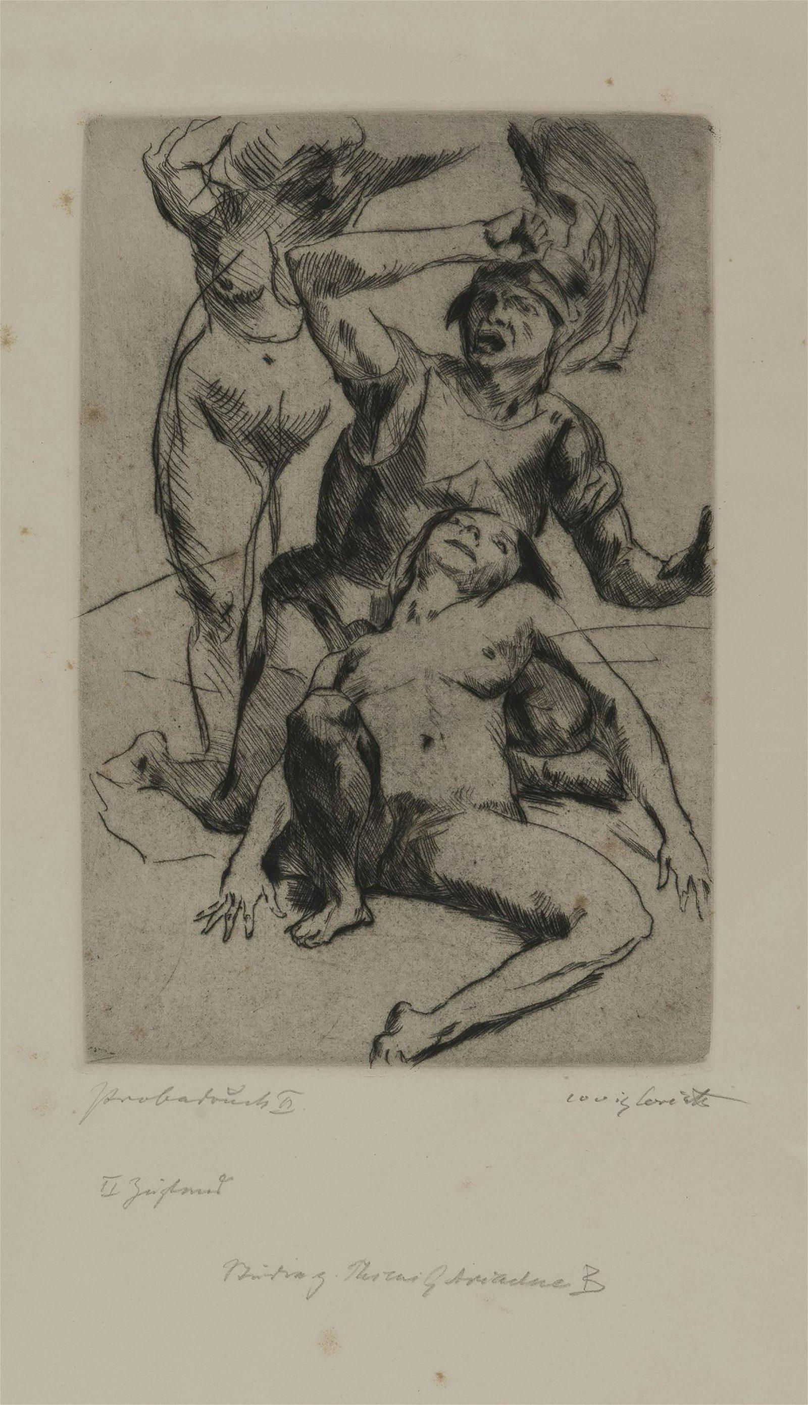 Lovis Corinth, 'Theseus and Ariadne I', 1914