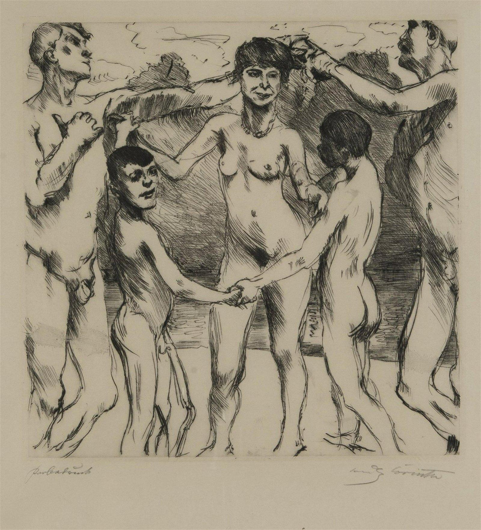 Lovis Corinth, 'Dancers on the beach', 1917