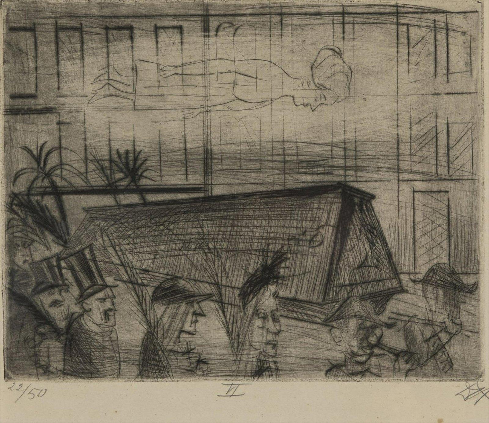 Otto Dix, 'Funeral', 1922