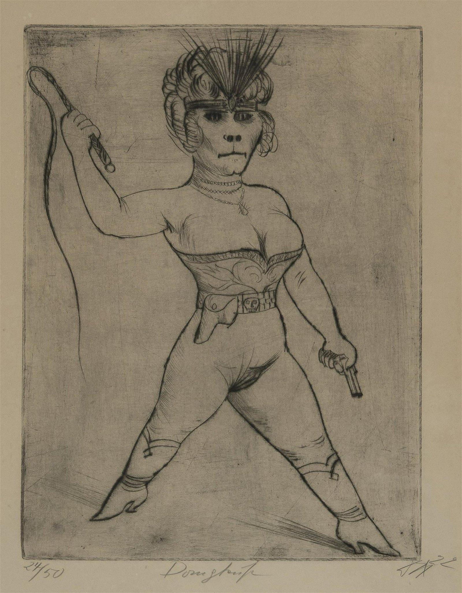 Otto Dix, 'Dompteuse', 1922