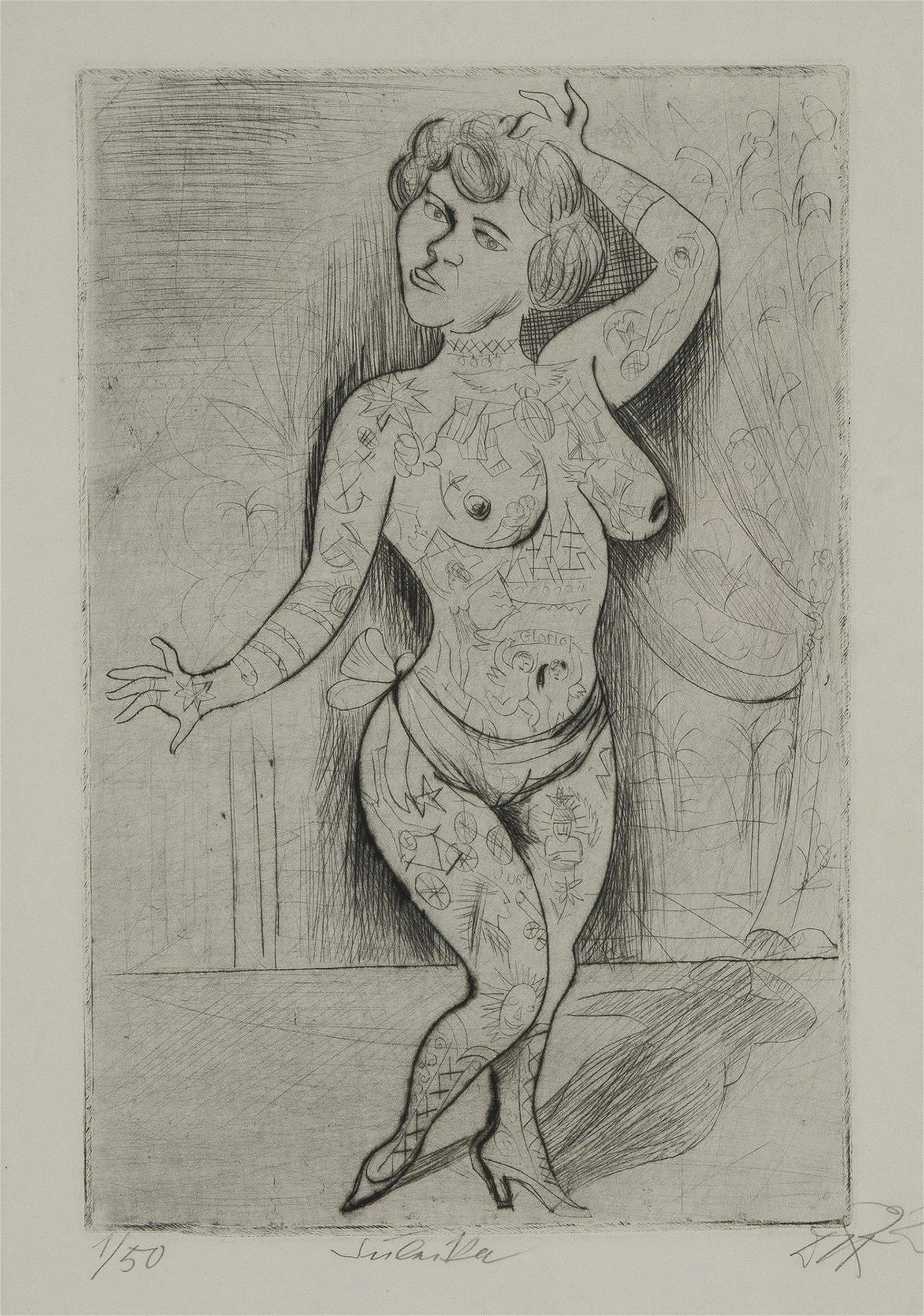 Otto Dix, 'Maud Arizona', 1922