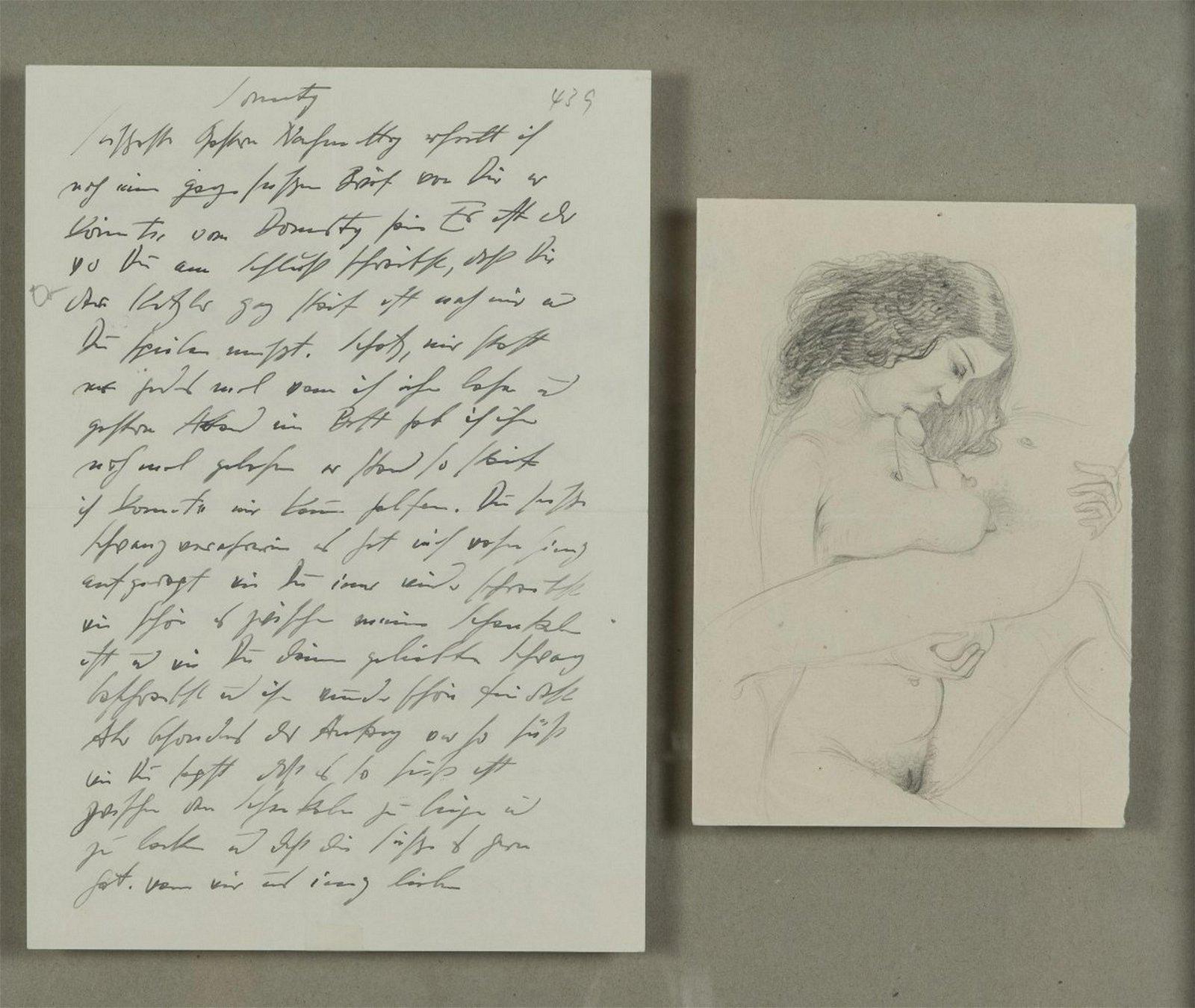 Otto Dix, erotic love letter