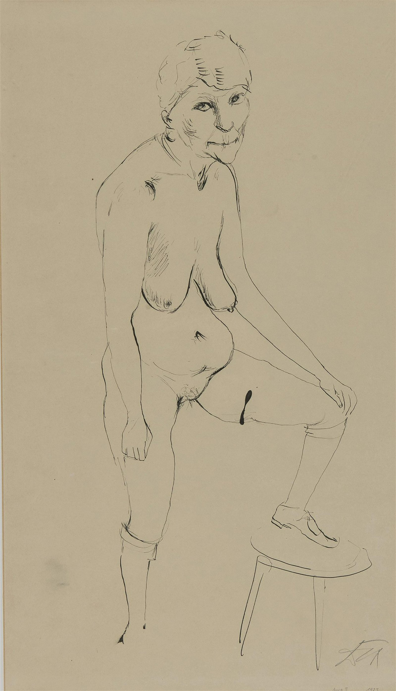 Otto Dix, pencil drawing, 1923