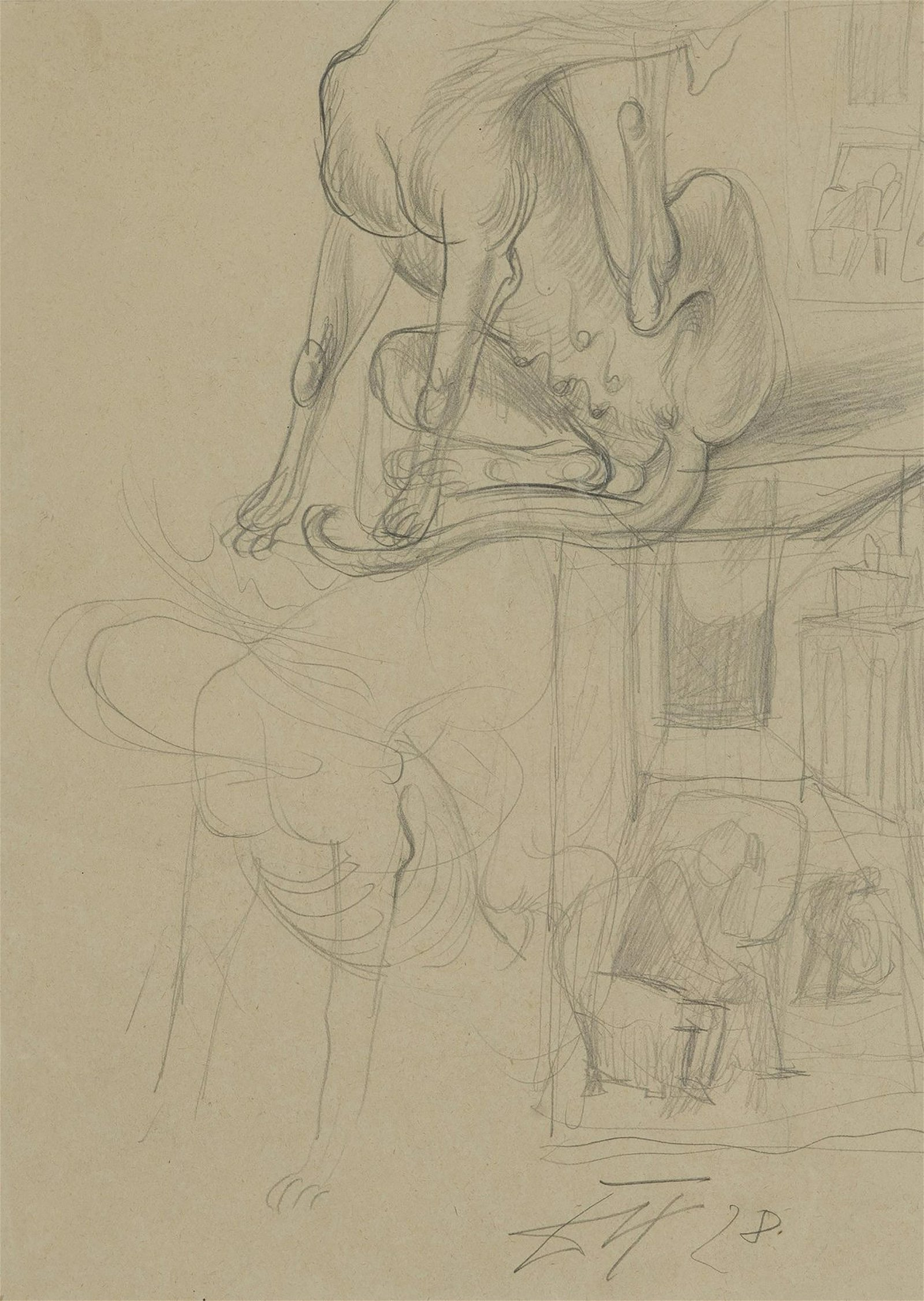 Otto Dix, Untitled (study), 1928