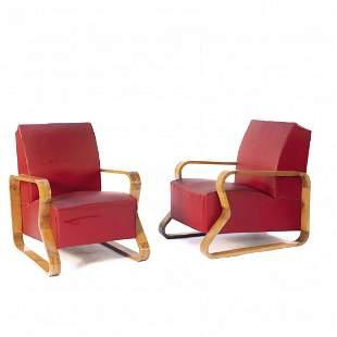 Italy, 2 armchairs, 1940/50s