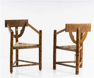 Sweden, 2 'Munk' armchairs, 1930/40s