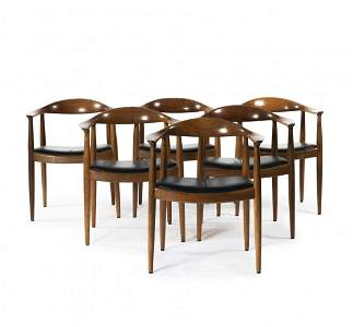 Hans J. Wegner, Six armchairs 'The Chair' - 'PP 503',