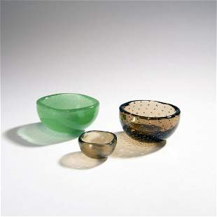 Carlo Scarpa, Three bowls, c. 1935-40
