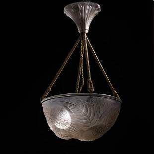 René Lalique, Pendant light 'Dahlias', 1921
