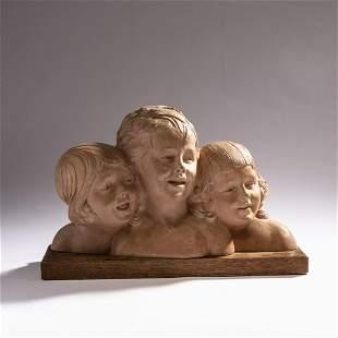 Demètre H. Chiparus, Three heads, c. 1920
