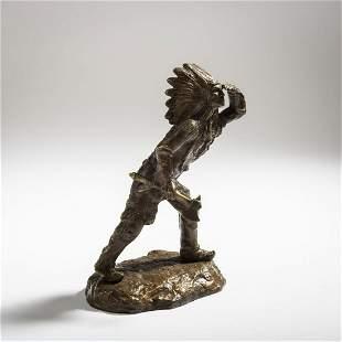 Carl Kauba, 'Lurking Scout', c. 1908