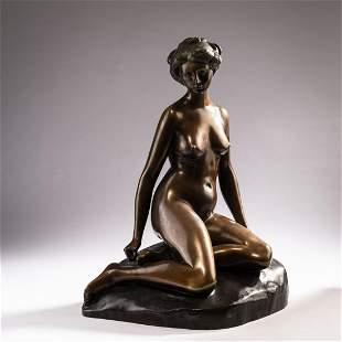 Rudolf Schwarz, Sitting nude, c. 1910