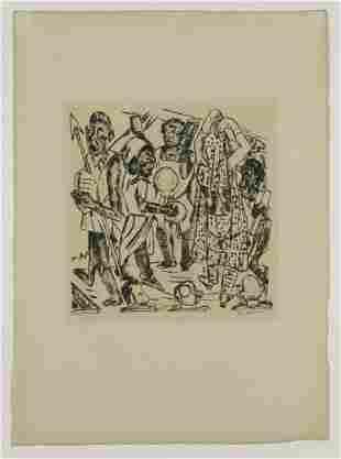 Max Beckmann Negro Dance 1921 Sheet 8 from