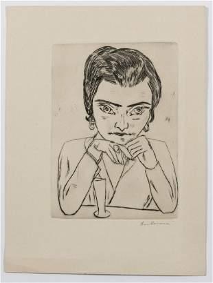 Max Beckmann, 'Bildnis Naila mit aufgestützten