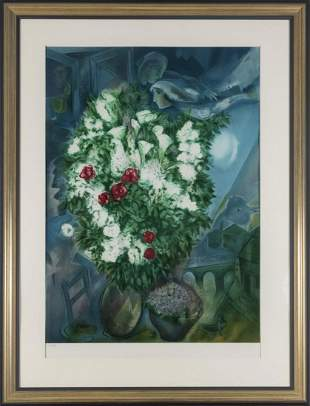 after Marc Chagall Bouquet for lovers 1934 1947