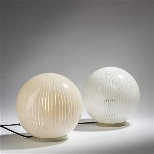 Massimo Vignelli, Set of six table lights, 1960s
