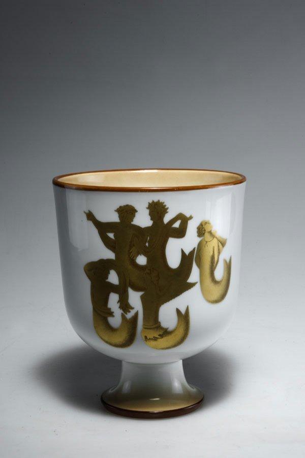 1012: Gio Ponti. 'Sirene' vase.  Porcelain, white, glaz