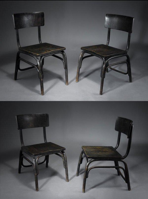 1014: Ferdinand Kramer. Four 'Kramer - B-403' chairs. B