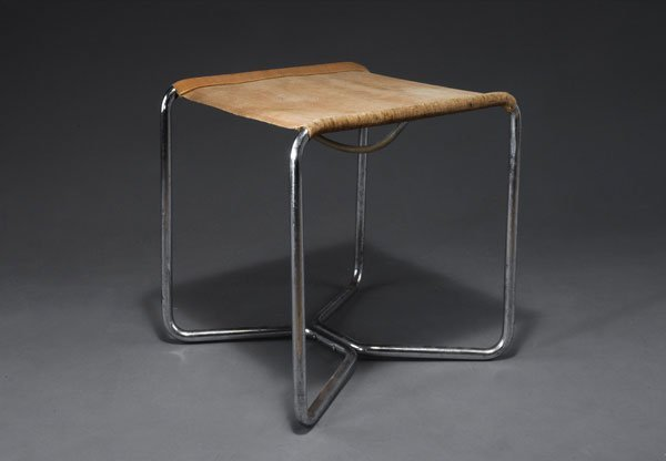 1019: Marcel Breuer. 'B8' stool. Chrome-plated tubular