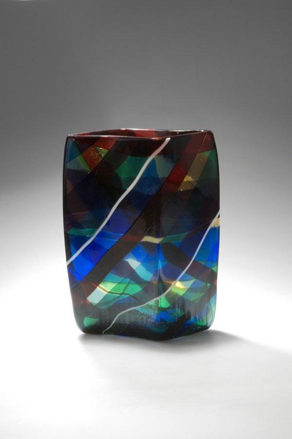 3119: Fulvio Bianconi. Vase 'scozzese'. H. 27 cm. Desig