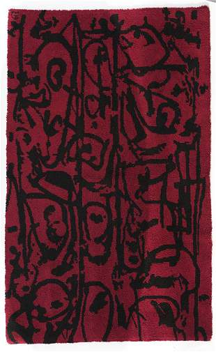 Antonio Saura, Carpet, c. 1964