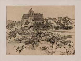 Ludwig von Hofmann Untitled village view with